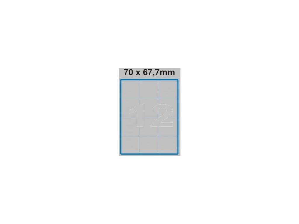 Etiketa 70 x 67,7 mm