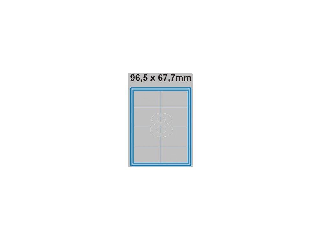 Etiketa 96,5 x 67,7 mm