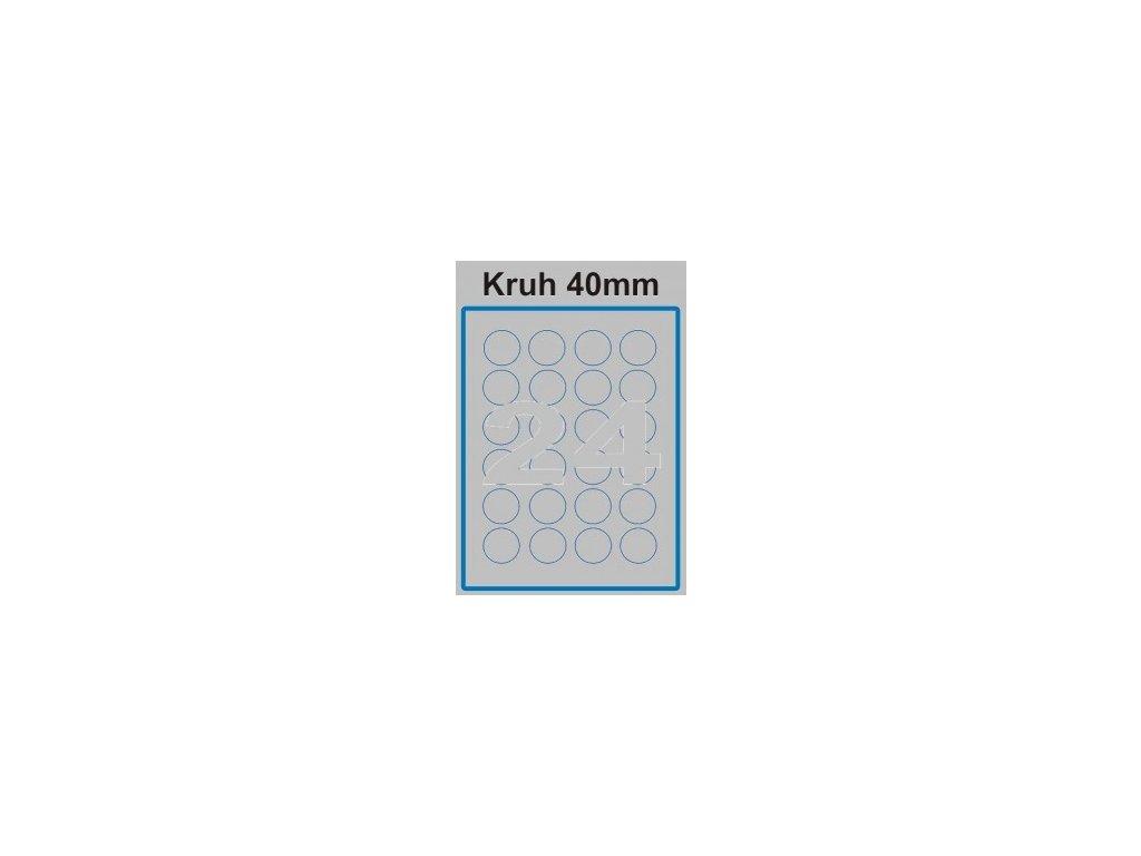 Etiketa kruh - 40 mm