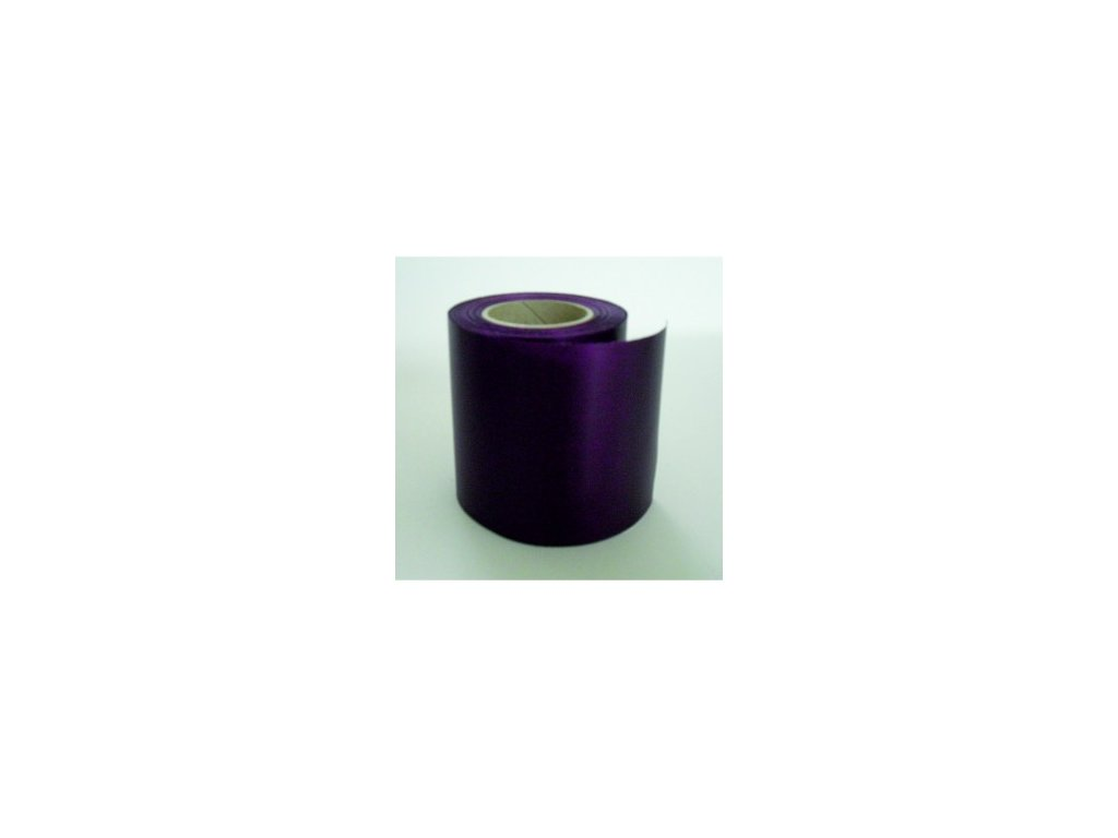 Stuha 75 mm x 25 m - fialová tmavá