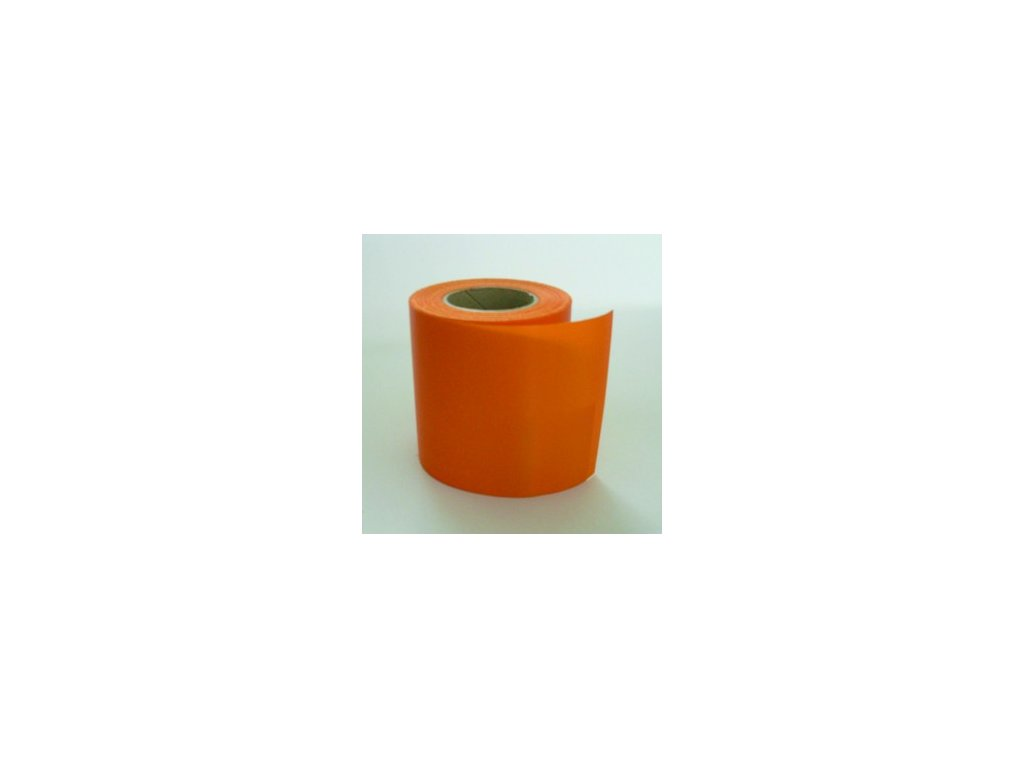 Stuha 75 mm x 25 m - oranžová