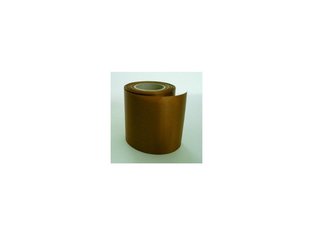 Stuha 75 mm x 25 m - zlato - hnědá