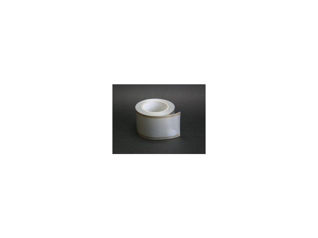 Stuha 80 mm x 100 m - stříbrná