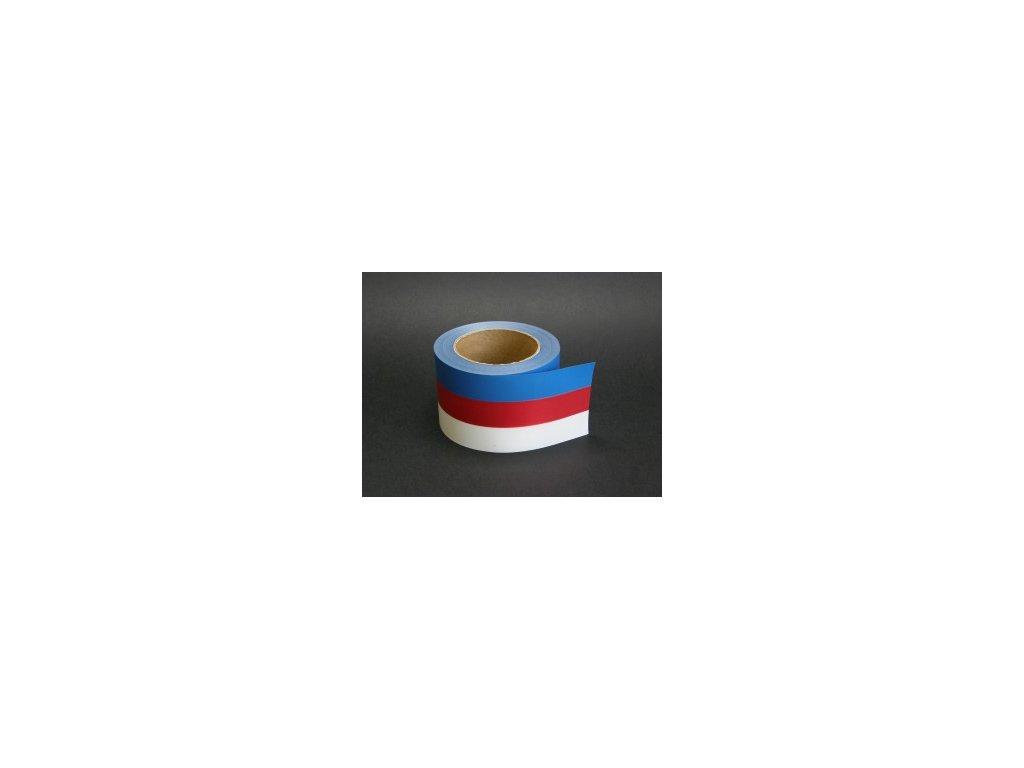 Stuha 80 mm x 50 m - tricolora