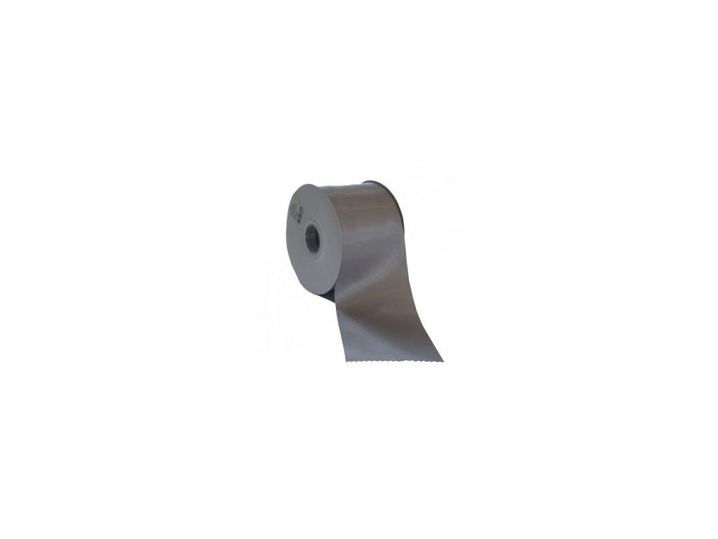 Stuha 75 mm x 50 m stříbrná