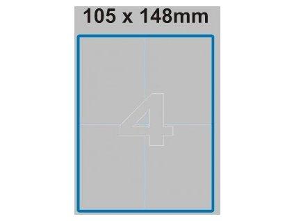 Etiketa 105 x 148 mm