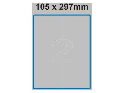 Etiketa 105 x 297 mm