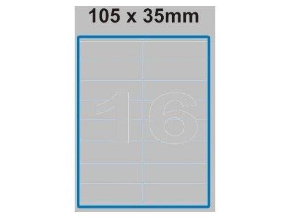 Etiketa 105 x 35 mm