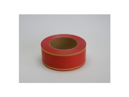 Stuha 50 mm x 50 m - červená