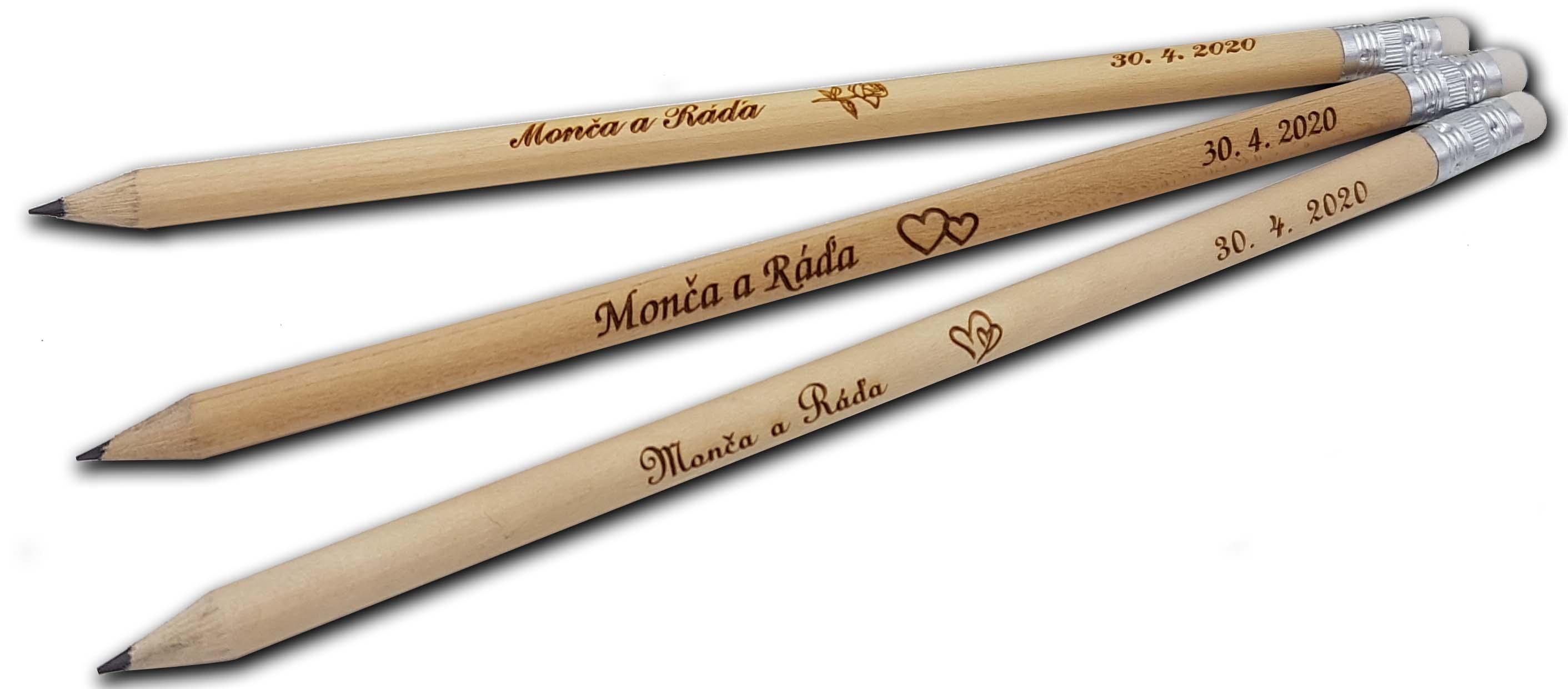 Svatební tužky s gumou