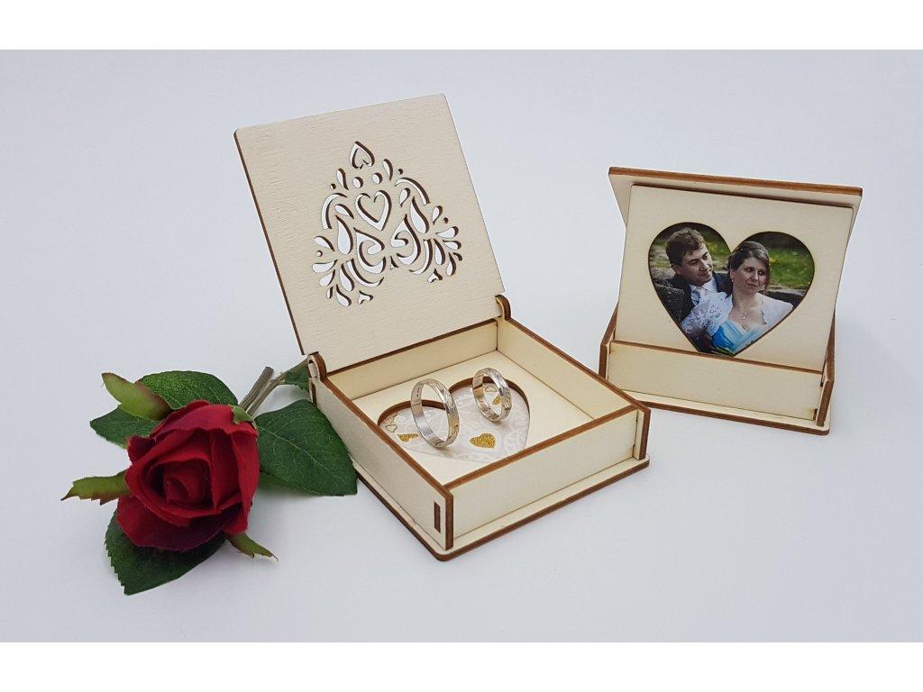 Krabička na snubní prsteny05 svatební rámeček