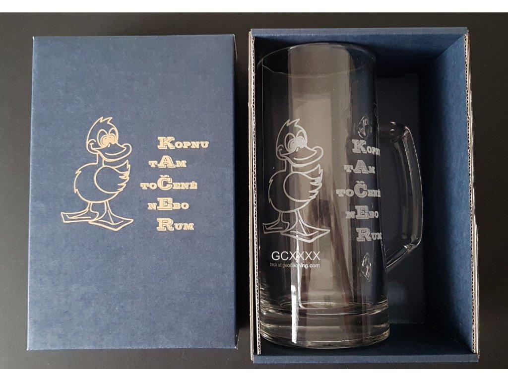 Pivní sklenice ušák s dárkovou krabičkou