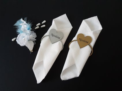 svatební jmenovky na stůl - srdce - UV plast