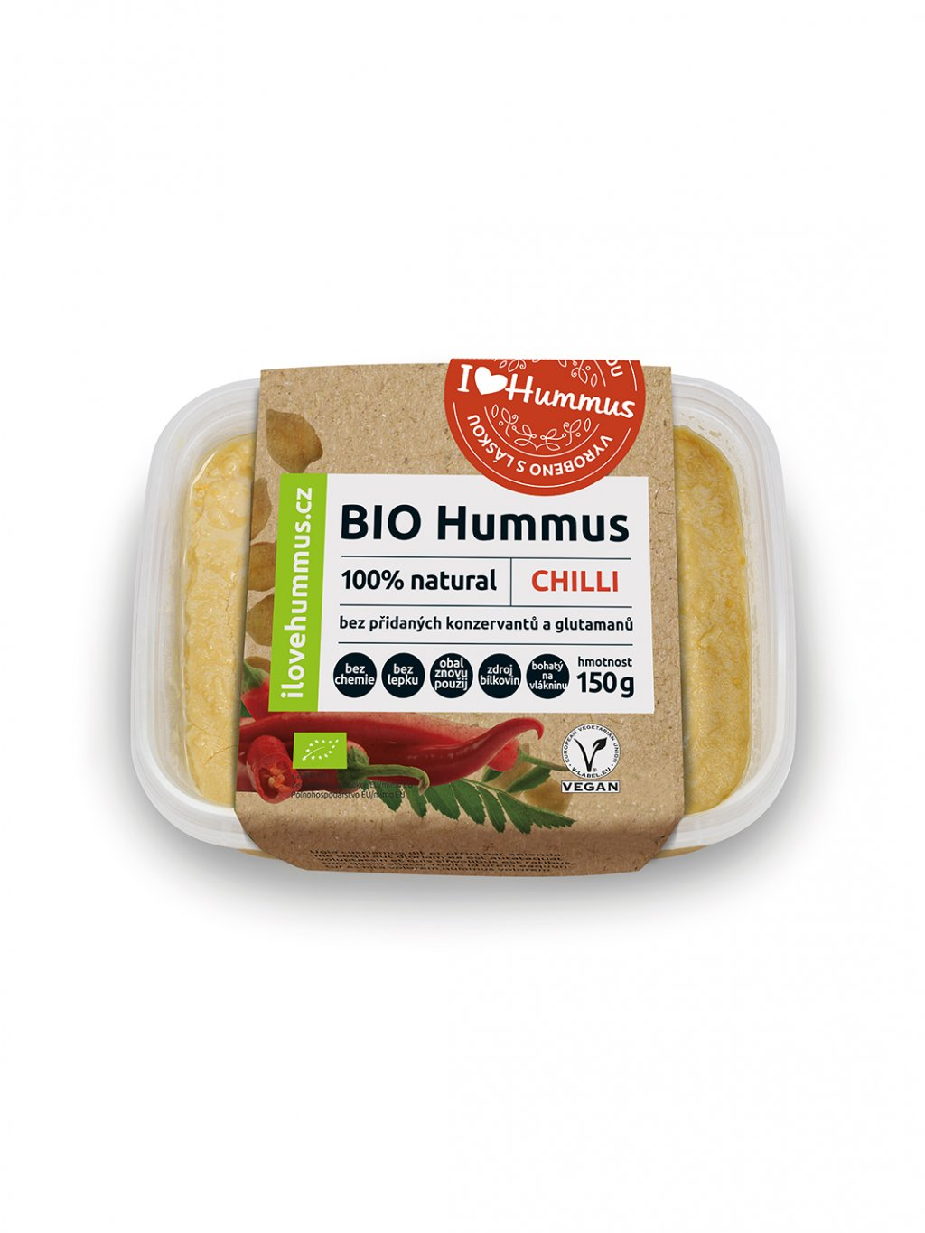 bio hummus chilli green heads