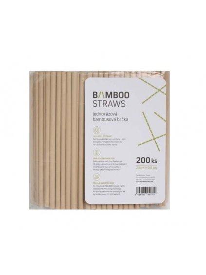 Bamboo Brčka 23cm x 0,8 cm, 200 ks