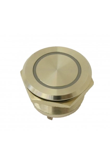 Push Button Metal RED LED IP65 12mm