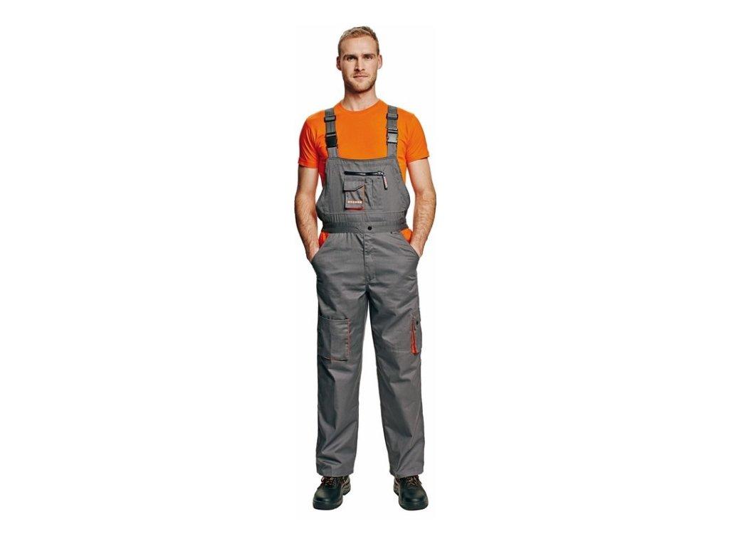 Kalhoty pracovní s laclem DESMAN