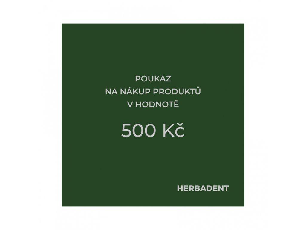 poukaz produkt 500