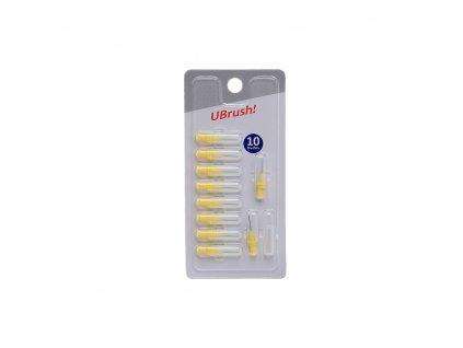 UBrush! doplňková balení mezizubních kartáčků (Velikost UBRUSH! - mezizubní kartáček - 1,2 mm šedý)