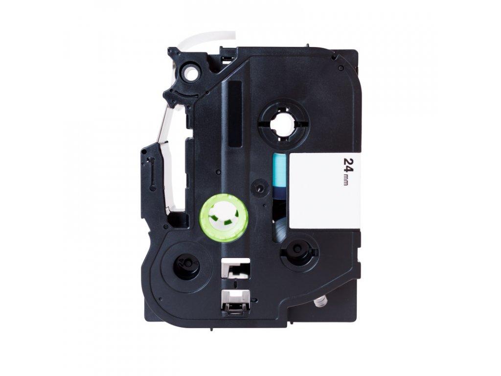 PRINTLINE kompatibilní páska s Brother TZE-251, TZ-251, 24mm, černý tisk/bílý podklad