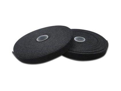 DIGITUS Vázací páska pro vyvazování - černá, 10m