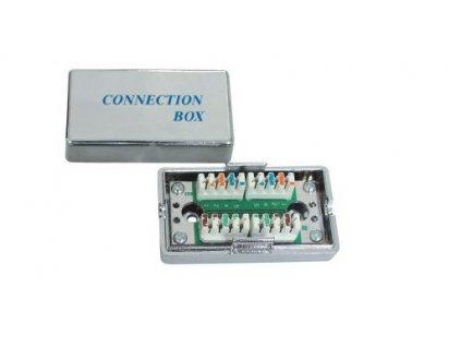 Propojovací box pro kabely Cat.5e, narážecí, stíněný