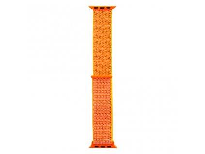 Tactical nylonový řemínek pro Apple Watch 1,2,3,4,5 42-44mm Orange - oranžový