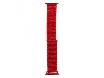 Tactical nylonový řemínek pro Apple Watch 1,2,3,4,5 42-44mm Red - červený