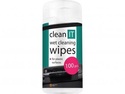 Clean IT vlhčené čisticí utěrky na plastové povrchy 100 ks