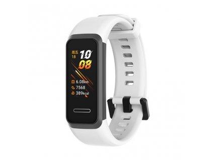 Handodo silikonový řemínek pro Huawei Band 4 White - bílý