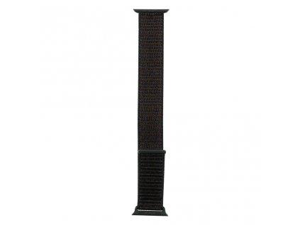 Tactical nylonový řemínek pro Apple Watch 1,2,3,4,5 38-40mm Black - černý