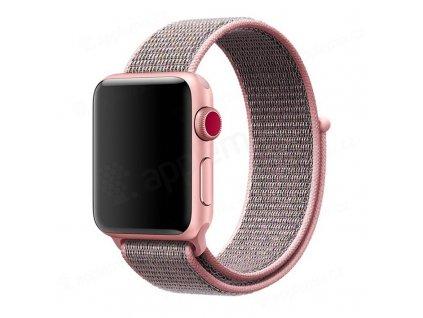 Tactical nylonový řemínek pro Apple Watch 1,2,3,4,5 38-40mm Gold