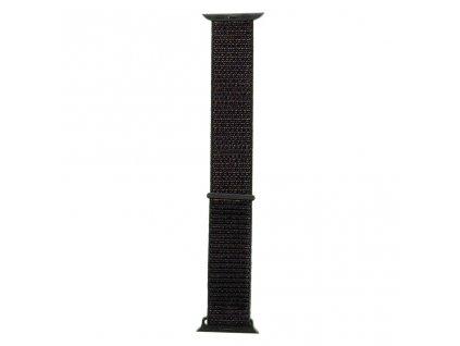 Tactical nylonový řemínek pro Apple Watch 1,2,3,4,5 42-44mm Black - černý