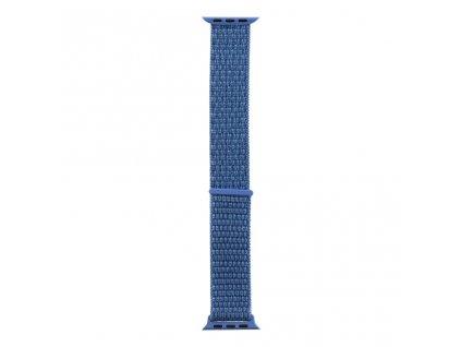 Tactical nylonový řemínek pro Apple Watch 1,2,3,4,5 42-44mm Blue - modrý