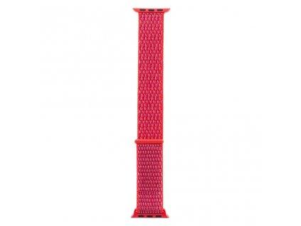 Tactical nylonový řemínek pro Apple Watch 1,2,3,4,5 38-40mm Pink - růžový
