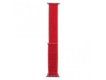 Tactical nylonový řemínek pro Apple Watch 1,2,3,4,5 38-40mm Red - červený