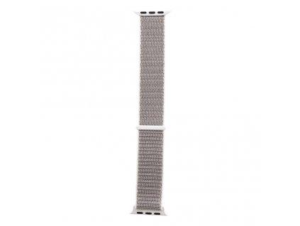 Tactical nylonový řemínek pro Apple Watch 1,2,3,4,5 38-40mm Silver - stříbrný