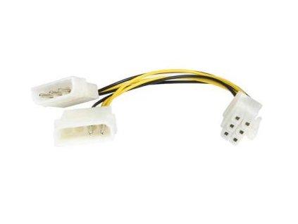 """Redukce napájecí 5.25"""" Molex - 6 pin pro PCI-E grafické karty"""