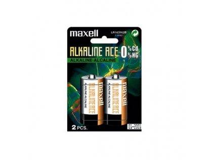 MAXELL Alkalická baterie C (R14), blistr 2 ks
