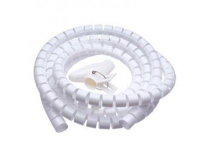Connect IT CI-679 - Pás na svazování kabelů, trubice, délka 2.50m a šířka 20mm, bílá barva