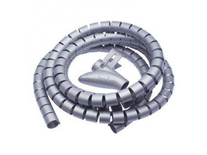 Connect IT CI-680 - Pás na svazování kabelů, trubice, délka 2.50m a šířka 20mm, šedá barva