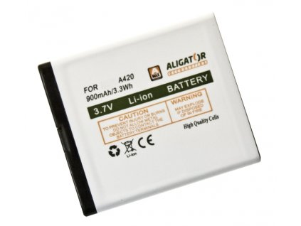 Aligator baterie pro A420/V500, Li-Ion 900 mAh