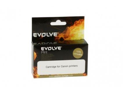 EVOLVEO inkoustová náplň CLI-521BK pro Canon - černá (black) / 10,5 ml (s čipem)