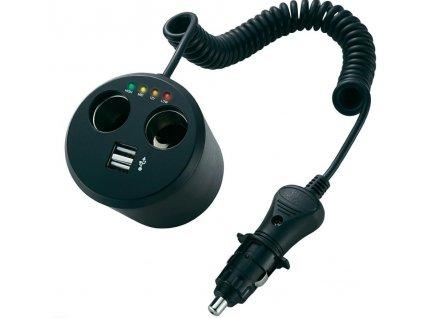 Rozbočovač s USB do autozásuvky A13-155B