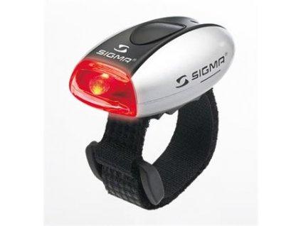 SIGMA světlo zadní MICRO stříbrná / zadní světlo LED-červená