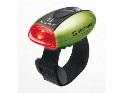 SIGMA světlo zadní MICRO zelená / zadní světlo LED-červená