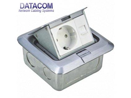 Datová zásuvka PODLAHOVÁ UTP CAT5E (1xRJ45+1x230V)