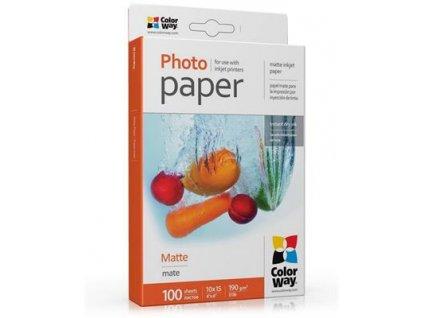 ColorWay fotopapír/ matný 190g/m2, 10x15 / 100 ks