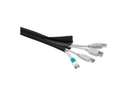 Pás na svazování kabelů, suchý zip, délka 1.80m a šířka 2-4cm, černá barva