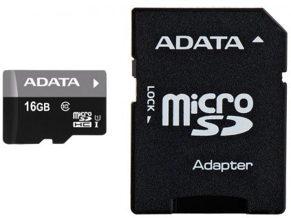 ADATA microSDHC Premier 16GB SDHC Cl10 + adaptér